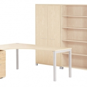 Cubit - Contemporary desking with metal legs