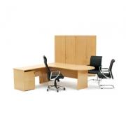 Ergoplan Desking shown with standard Tawa finish